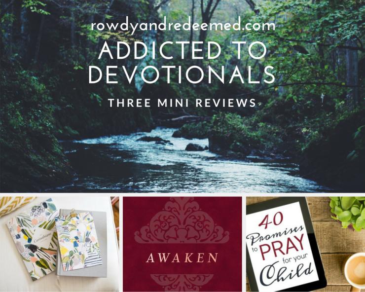 Three recent devotionals I've undertaken.